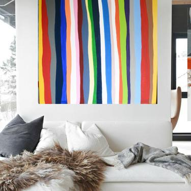 "For Ashley - Custom Order Minimal Modern 36""x36"" Canvas Painting Abstract Minimalist Modern Original Contemporary Artwork Commission Art by ArtbyDinaD"