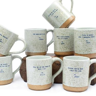 Inspiration Mug Gift | Quote Mug Gift | Gloria | Jimi | Freddie | Willie | Louis | David | Johnny | Jerry by PiccadillyPrairie