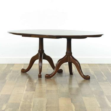 Henkel Harris Georgian Dining Table W Tripod Pedestals