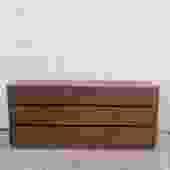 Mid Century Modern Nine Drawer Dresser in Walnut