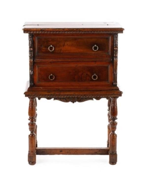 Italian Walnut Desk/Secretaire/Cabinet/Telephone Table, 19th century