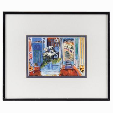 Raoul Dufy Open Window at Saint-Jeannet Print by VintageInquisitor