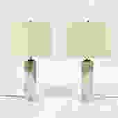 T.H. Ronsjohn-Gibbings Pair of Marble Table Lamps