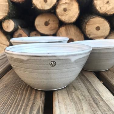 handmade bowls,  serving bowl, white bowls,  rustic bowls, salad bowls, noodle bowls, pottery bowl, pho bowls, large soup bowl by altheaspottery