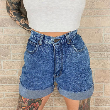 80's Stefano High Rise Cut Off Jean Shorts / Size 27 by NoteworthyGarments