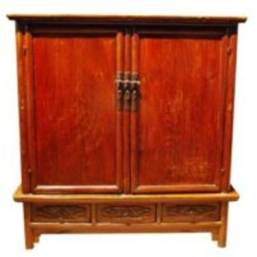 96016 Antique Shanxi Province Lacquered Cabinet, Circa 1850