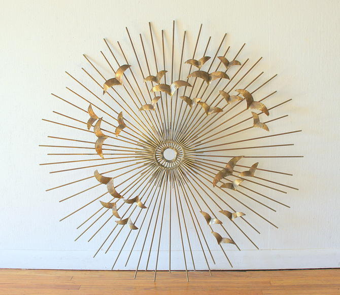 Mid Century Modern Brutalist Sunburst Wall Sculpture by Willem Degroot