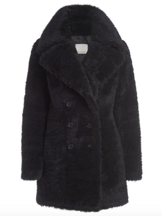 margot teddy bear double breasted coat