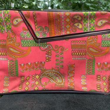 Pink Paisley Suitcase by krispyfringe