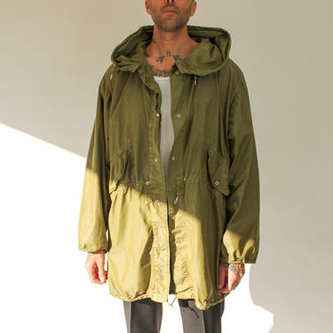 Vintage 70s 80s M-65 US Military Fishtail Hooded Parka Jacket | 80/20 Cotton, Nylon | Made in USA | RARE | 1970s 1980s Military Trench Coat by TheVault1969