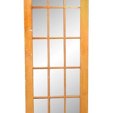Antique 15 Lite Wavy Glass French Door 84 x 30