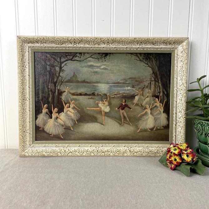 "Carlotta Edwards ""Swan Lake"" framed print - 1950s vintage by NextStageVintage"