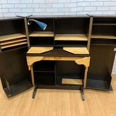 Mid Century Modern Modern Magic Box Compact Home Office Desk