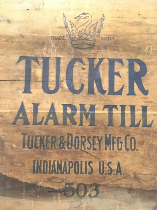 1890 Tucker Alarm Till, Wooden Cashier's Drawer with Combo Lock, Alarm Bell, Bins for Cash and Currency by Deco2Go