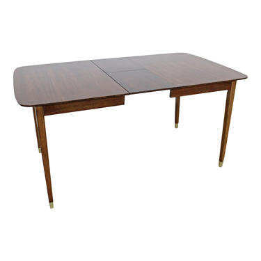 Mid-Century Modern Dining Table Extendable Surfboard Butterfly Leaf Walnut Dining Table by AnnexMarketplace