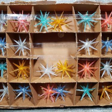 Vintage Twinkling Stars of Bethlehem String Lights, Usalite Blinking Sputnik Light Strand, 1950's Mid Century Christmas,  Vintage Holiday by AGoGoVintage