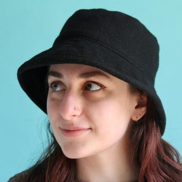 Black Wool Bucket Hat Small by BeggarsBanquet
