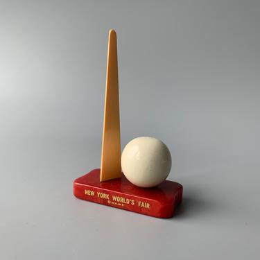 1939 New York World's Fair Souvenir featuring the Trylon and Perisphere in Bakelite by HomeAnthology