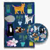 Rescue Cat Pot Holder & Tea Towel Set