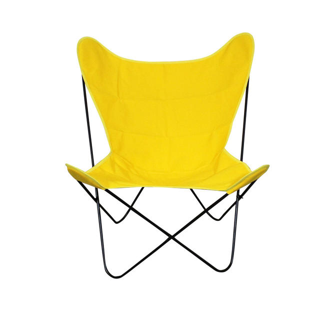 Mid-Century Modern Welded Iron Butterfly Chair Danish Modern Knoll Style by AnnexMarketplace