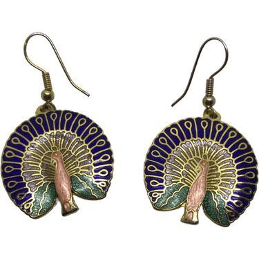 90s Peacock Earrings