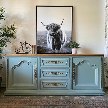 Vintage Buffet Credenza Entry Table by Century Furniture of Distinction *Local Pick Up Only by BluePoppyFurniture