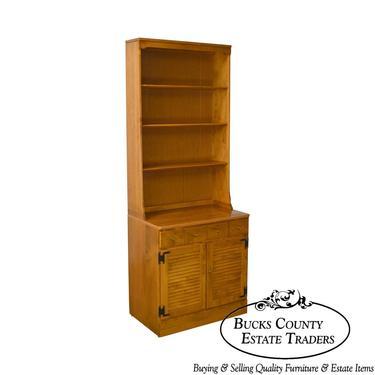 Ethan Allen Custom Room Plan Maple 2 Piece Bookcase Cabinet by BucksEstateTraders