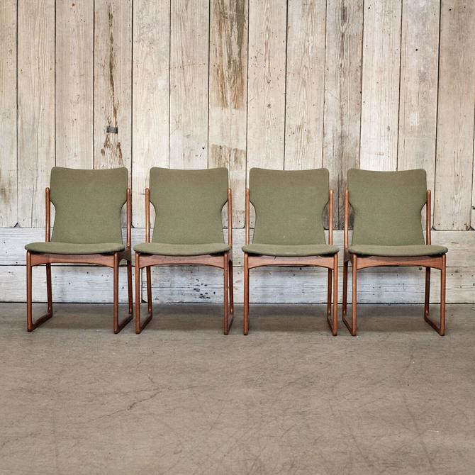 Vintage Green Dining Chair Set of 4