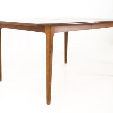 Brasilia Style Mid Century Walnut Surfboard Dining Table with 2 Leaves - mcm by ModernHill
