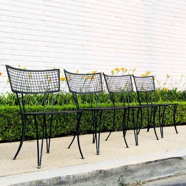 Mid-Century Modern Klismos Style Iron Patio Chairs! by VintageSupplyLA