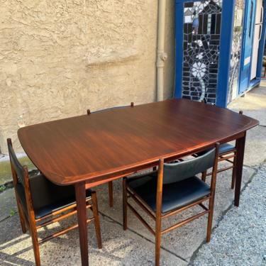 Mid century dining table Scandinavian modern rosewood dining table Westnofa rosewood extension table by VintaDelphia