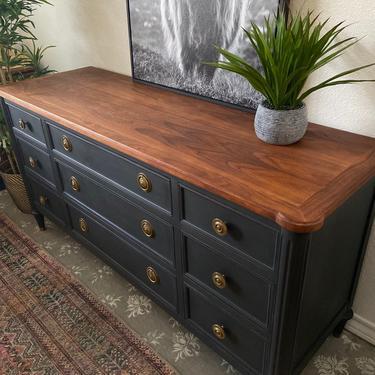 Vintage Mid Century Modern Dresser Credenza by Bodart *Local Pick Up Only by BluePoppyFurniture