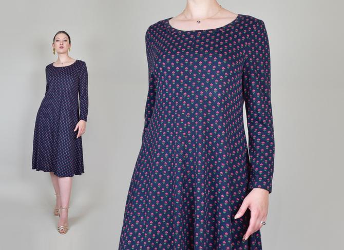 1970's Diane von Furstenberg Knit Dress | Floral Print Diane von Furstenberg Dress by WisdomVintage
