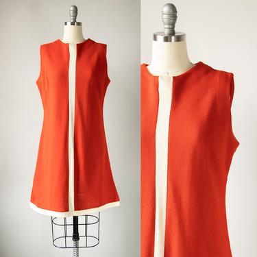 1960s Dress Knit Stripe Mod Shift S by dejavintageboutique