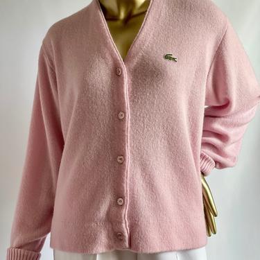 Pretty Pink Lacoste Club Cardigan Boyfriend Sweater by BeggarsBanquet