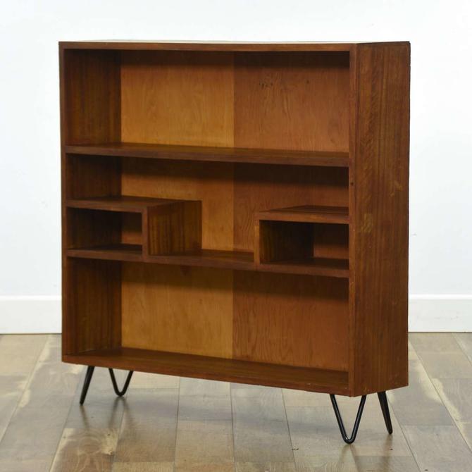 Mid Century Modern Style Hairpin Leg Bookcase