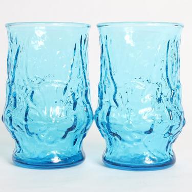 Anchor Hocking, Blue Glassware, Vintage Glassware, Blue Glasses, Vintage, Anchor Hocking Glass, Milano Lido Rock, Anchor Hocking, Set of 2 by 1882BlueVintage