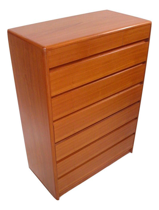 Danish Modern Teak Tall Tallboy bedroom Dresser Credenza From Nordisk Near MINT