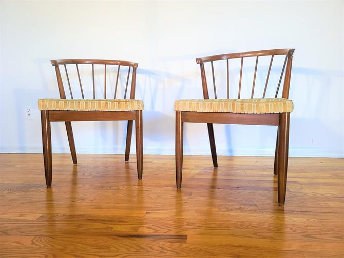 Mid Century American of Martinsville Dania Collection Pair of Dining Chairs by ProRefineFurnishings