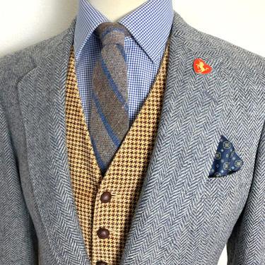 Vintage CRICKETEER 100% Wool TWEED Blazer ~ 38 S ~ Herringbone jacket / sport coat ~ Preppy / Ivy League / Trad ~ by SparrowsAndWolves