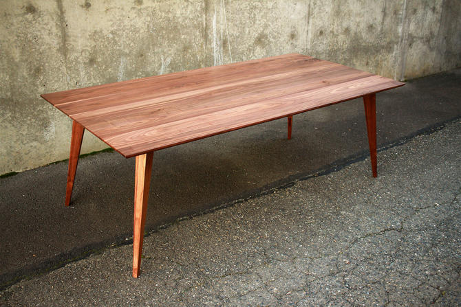 Harwala Dining Table, Modern Dining Table, Solid Wood, Mid-Century Modern (Shown in Walnut) by TomfooleryWood