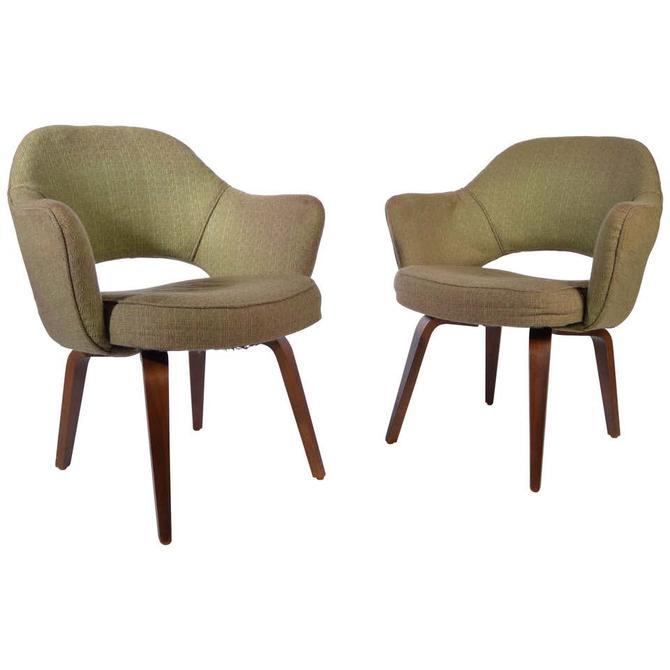 2 Eero Saarinen Bentwood Executive Armchairs for Knoll-Series 71
