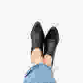 90s black ankle boots by harlowandspring