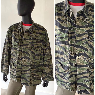 Vintage Vietnam Jungle Camo Shirt / Camouflage Military Shirt / Jacket / Size 52 Chest by AmericanDrifter