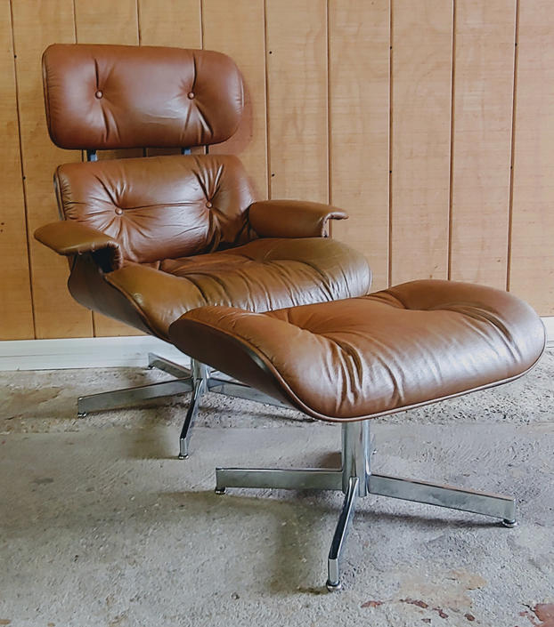 Pleasant Mid Century Modern Herman Miller Style Lounge Chair And Ottoman By Selig By Modandozzie Download Free Architecture Designs Scobabritishbridgeorg