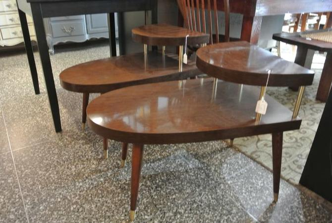 MCM tiered side tables. $45/each