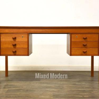 Danish Teak Desk by Domino Møbler by mixedmodern1