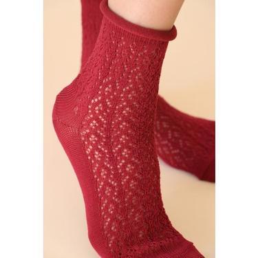 Egyptian Cotton Crochet Crew Socks