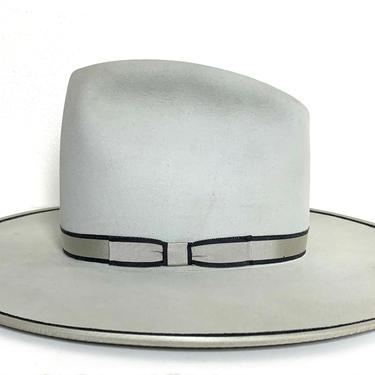 Vintage STETSON Cowboy Hat ~ 7 3/8 ~ Bound Edge ~ Western Fedora ~ Wide Brim ~ Open Road ~ 5X Beaver Fur Felt by SparrowsAndWolves