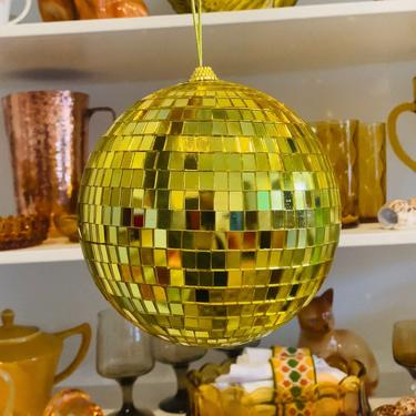 """6"""" Gold Disco Ball Mirror Ball - THE EBBA by LivingColorfullyShop"""